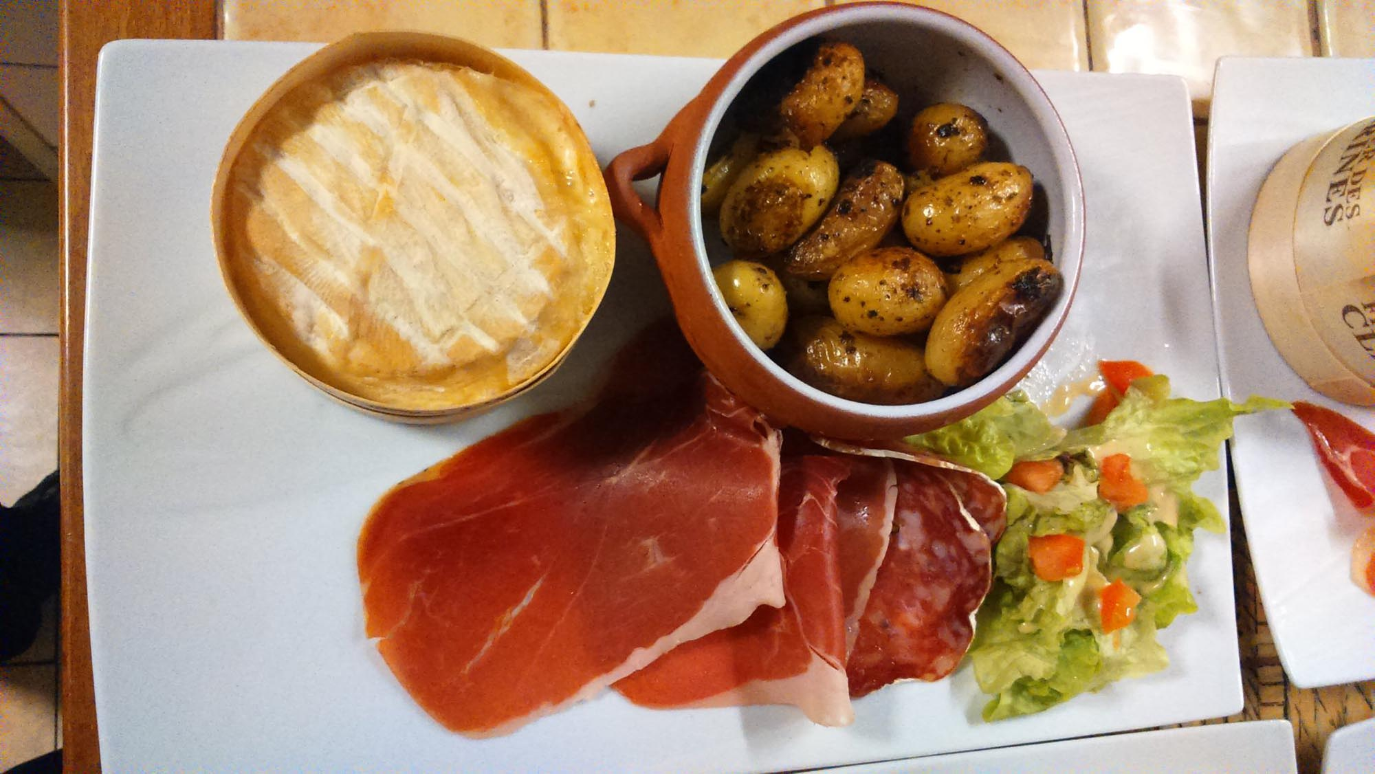 plat chalet Beaurivage - fromage jambon