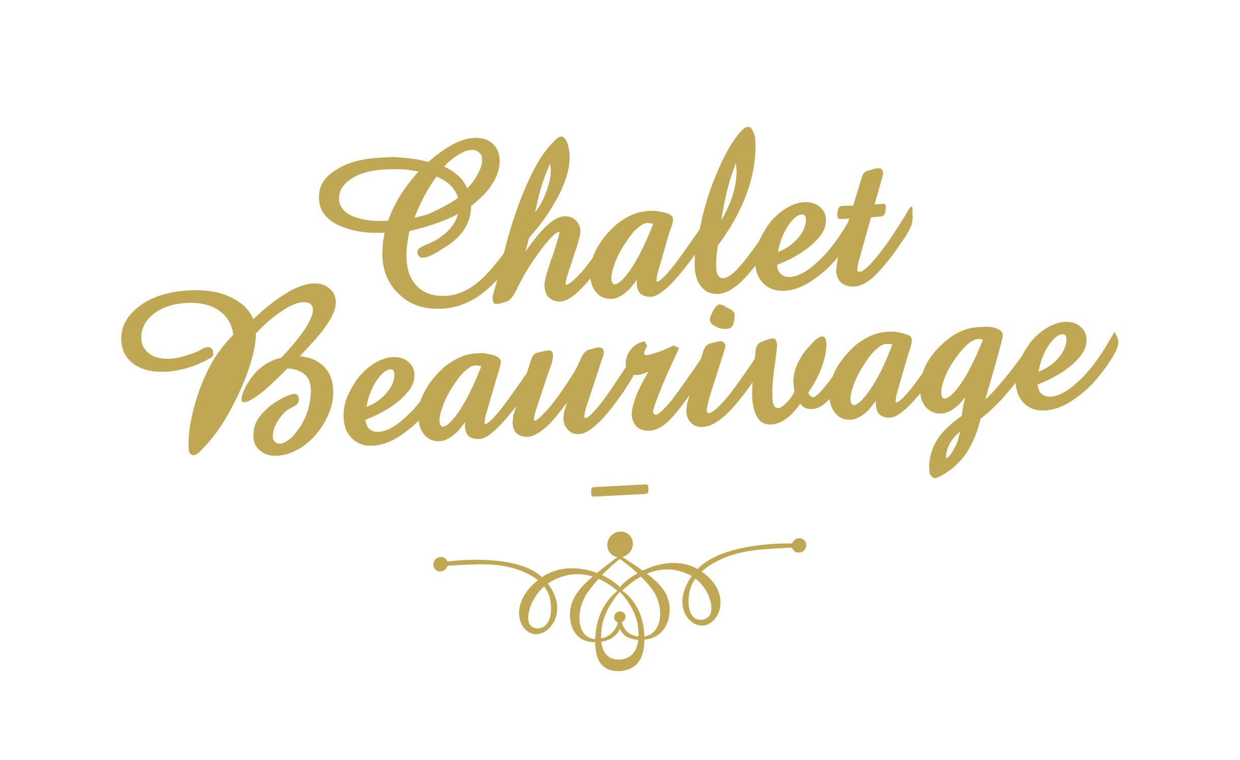 Logo simple orné Chalet Beaurivage